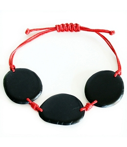 Chips Tagua Bracelet in Black