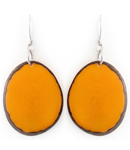 Chips Tagua earrings in Yellow