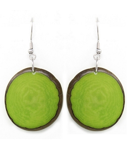 Chips Tagua earrings in Green